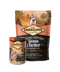 Carnilove Salmon & Turkey For Large Breed Puppies 1.5kg