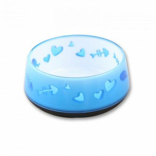Cat Love Bowl Blue