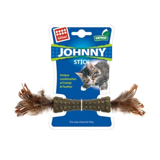Catnip Johnny Sticks with Double Side Natural Feather