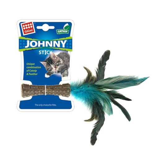 """Catnip """"Johnny Sticks"""" with Natural Feather"""