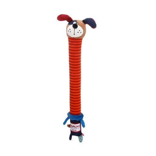 Crunchy Neck Plush Friendz Dog with Bone & Squeaker – Small
