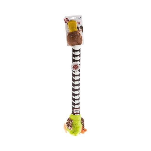 Crunchy Neck Duck with Bone & Squeaker Large -Yellow green