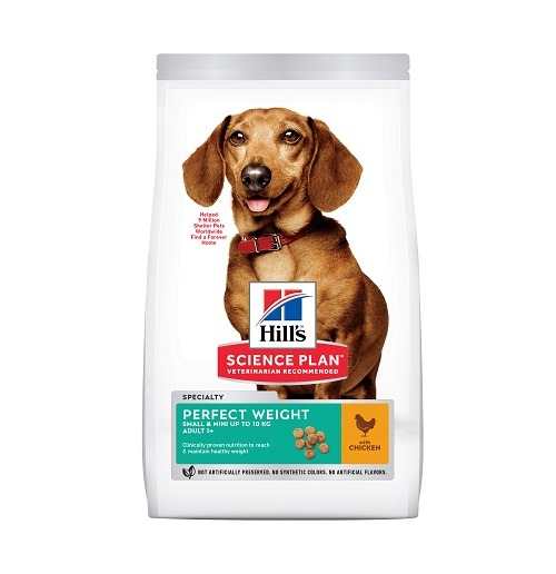 DOG Adult SM Perfect Weight Chicken - Hill's Science Plan - Perfect Weight Small & Mini Adult Dog Food With Chicken