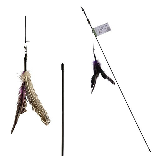 FP0479C feather whip cat wand - Nutrapet - Feather Whip Cat Wand