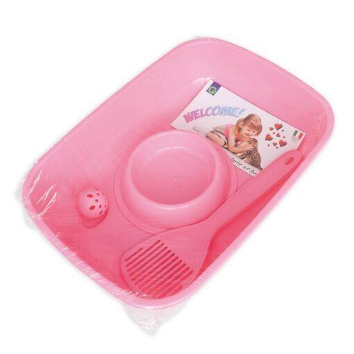 Georplast Kitten Welcome Kit Pink - Georplast - Kitten Welcome Kit Pink