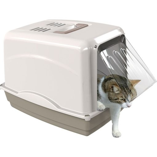 Georplast Vicky Cat Litter Box Grey 2 - Georplast - Vicky Cat Litter Box Grey