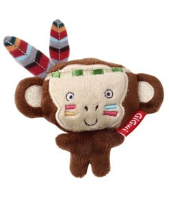 """Happy Indian """"Melody Chaser"""" Monkey with motion activated sound chip"""