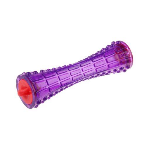 "Treat Dispenser ""Johnny Stick' TPR Transparent Purple"