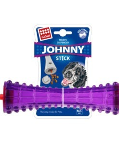 "Treat Dispenser ""Johnny Stick' TPR Transparent Purple"