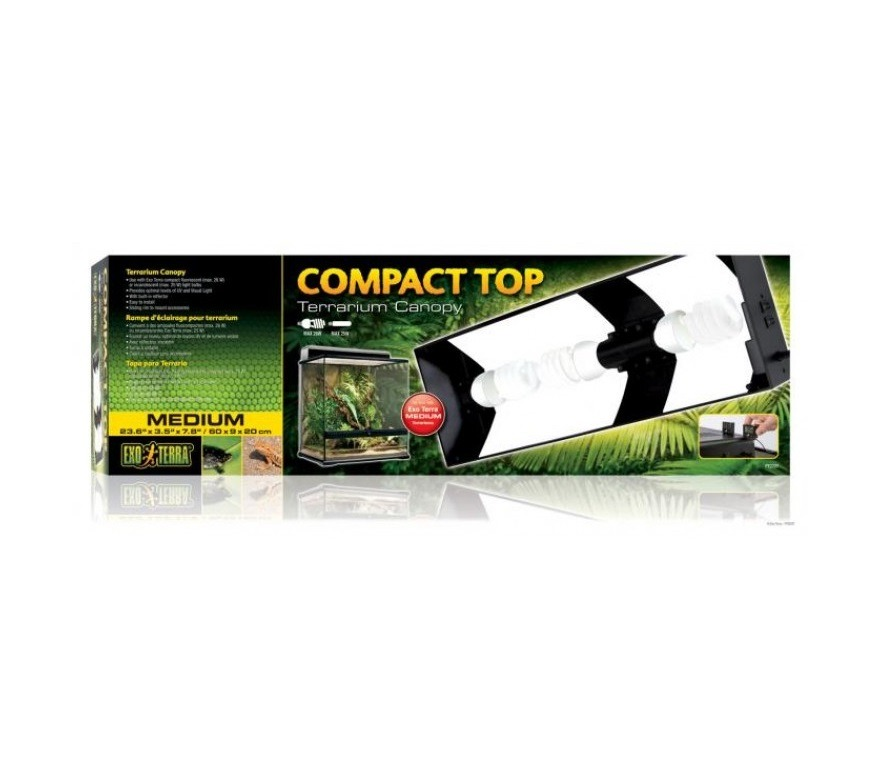 HAPT2227 - Exo Terra - 60cm Compact Fluorescent 3 Light Canopy