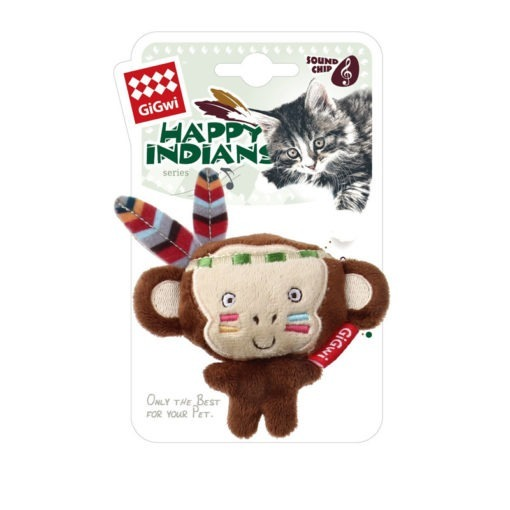 "Happy Indian ""Melody Chaser"" Monkey with motion activated sound chip"