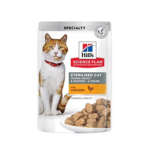 Science Plan Sterilised Cat Young Adult With Chicken Pouches