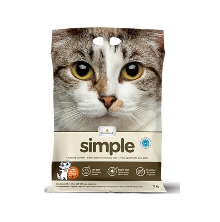 Intersand Simple Clumping Cat Litter 18kg - Intersand - Simple Clumping Cat Litter (18kg)