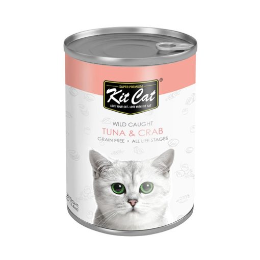 KC Tuna Crab - Kit Cat Wild Caught Tuna with Crab Canned Cat Food 400g