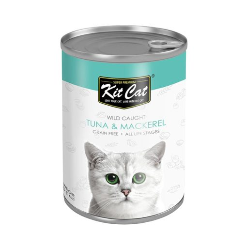 KC Tuna Mackerel - Kit Cat Wild Caught Tuna with Mackerel Canned Cat Food 400g