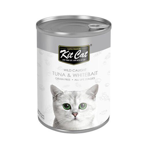 KC Tuna Whitebait - Kit Cat Wild Caught Tuna with Whitebait Canned Cat Food 400g