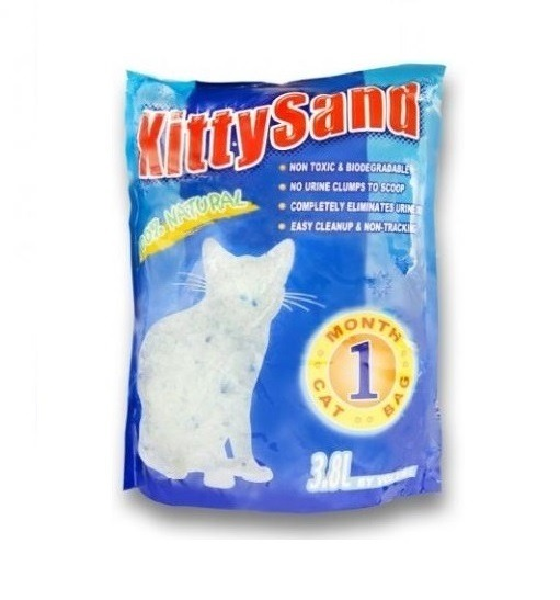 KITTY SAND LITTER 3.8 L - Kitty Sand - Crystal Cat Litter Natural 3.8L