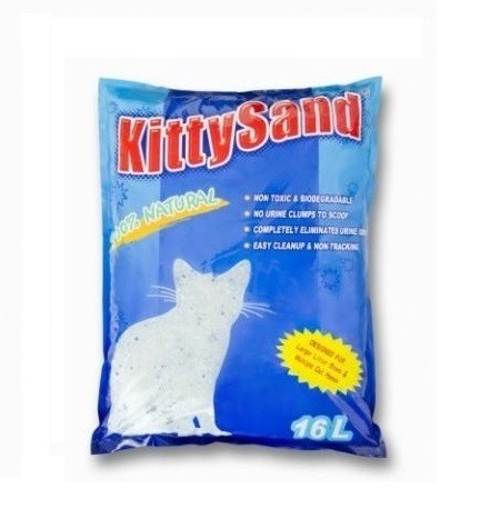 KITTY SAND LITTER NATURAL 16L - Kitty Sand – Crystal Cat Litter Natural 16L
