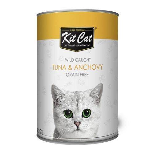 Kit Cat Wild Caught Tuna Anchovy 1 - Kit Cat - Wild Caught Tuna & Anchovy 400g