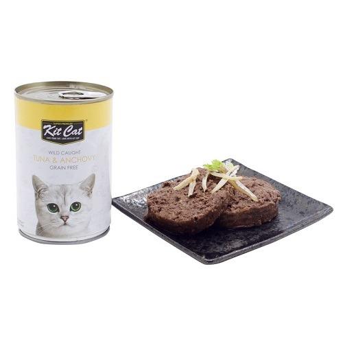 Kit Cat Wild Caught Tuna Anchovy 2 - Kit Cat - Wild Caught Tuna & Anchovy 400g