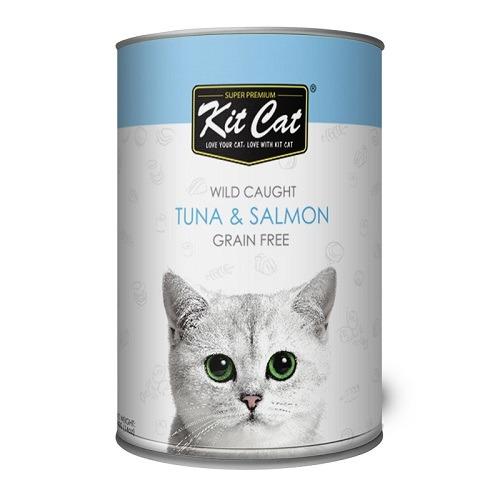 Kit Cat Wild Caught Tuna Salmon 1 - Kit Cat - Wild Caught Tuna & Salmon 400g