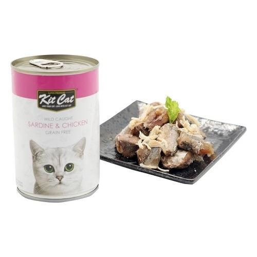 KitCat Wild Caught Sardine Chicken 2 - Kit Cat - Wild Caught Sardine & Chicken 400g