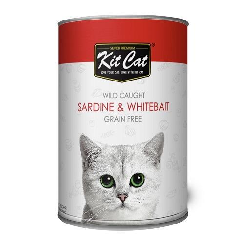 KitCat Wild Caught Sardine WhiteBait 1 - Kit Cat - Wild Caught Sardine & WhiteBait 400g
