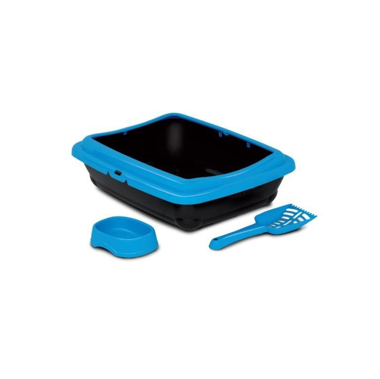MPB147 BLUE 1 - Birba Kit Blue (Litter Box+Scoop+Bowl)