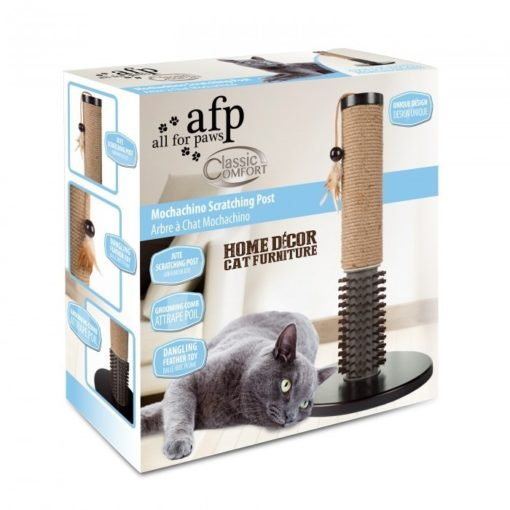 Mochachino Scratching Post with Rubber Bristles - AFP - Mochachino Scratching Post With Rubber Bristles