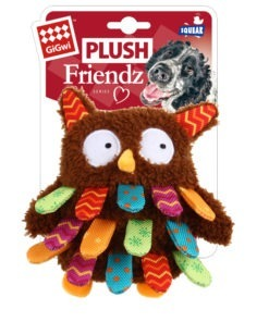 Owl Plush Friendz with squeaker