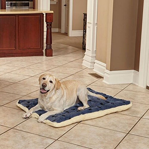 Paw Print Fleece Pet Bed 2 - Midwest Homes - Reversible Paw Print Fleece Pet Bed