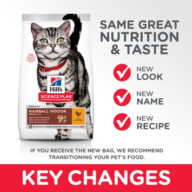 Pilot CAT Hairball Indoor 1 EN 7 Summary of Changes copy - Hill's Science Plan - Feline Adult Hairball Control w/ Chicken