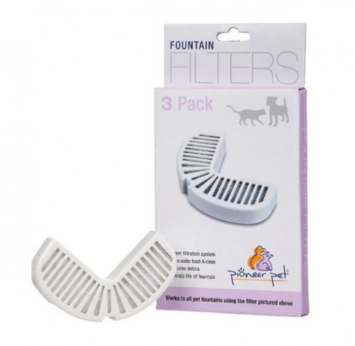 Pioneer Pet Filters For Ceramic and Stainless Steel Fountains 3pack - Pioneer Pet - Filters For Ceramic and Stainless Steel Fountains (3pack)