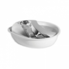 Pioneer 6029W Stainless fountain - Stainless Steel/Plastic Fountain Raindrop Style - White (1.8 L)