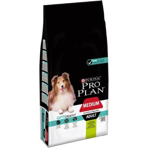 Pro Plan Dog Medium Adult Rich in Lamb 14kg 43916821 - Purina Pro Plan Medium Adult Sensitive Digestive Dog (Lamb) 14kg
