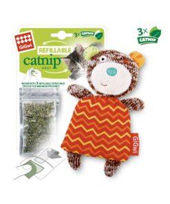 Refillable Catnip (Bear) with 3 Catnip Teabags in Ziplock bag