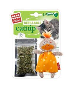 Refillable Catnip (Duck) with 3 Catnip Teabags in Ziplock bag