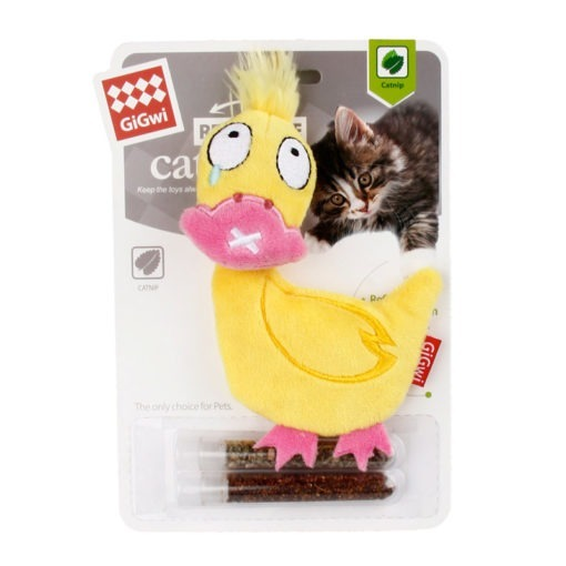 Refillable Duck with Changeable Catnip Bag