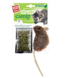 Refillable-catnip-mouse