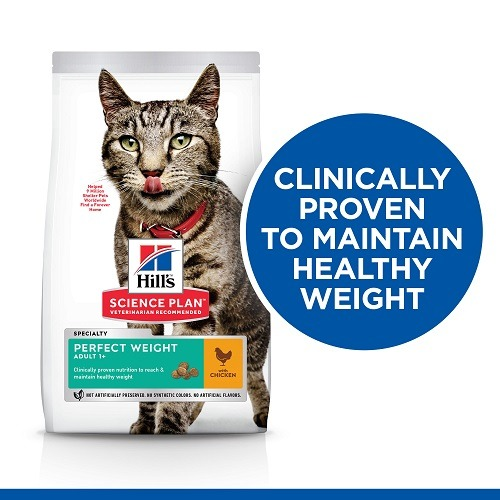 SP Thumbnails Cat Perfect Weight Front of Pack EN - Hill's Science Plan – Perfect Weight Adult Cat Food With Chicken