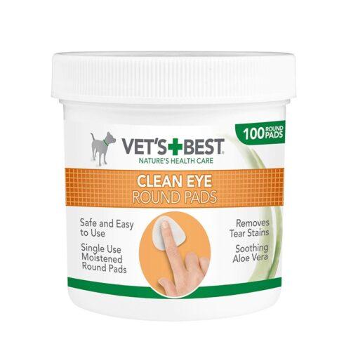Vets Best Clean Eye Round Pads 1 - Vet's Best - Clean Eye Round Pads (100pads)