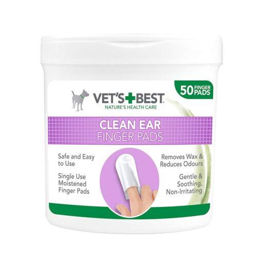 Vets best Clean Ear Finger Pads 1 - Vet's Best - Clean Ear Finger Pads (50 Pads)