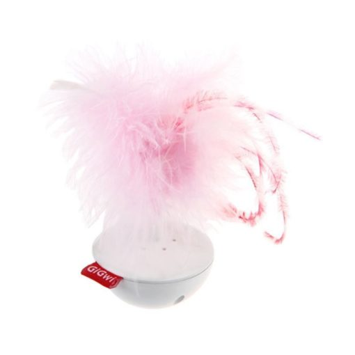 Wobble Feather Pet Droid with Natural Feather Caps & Sound Module