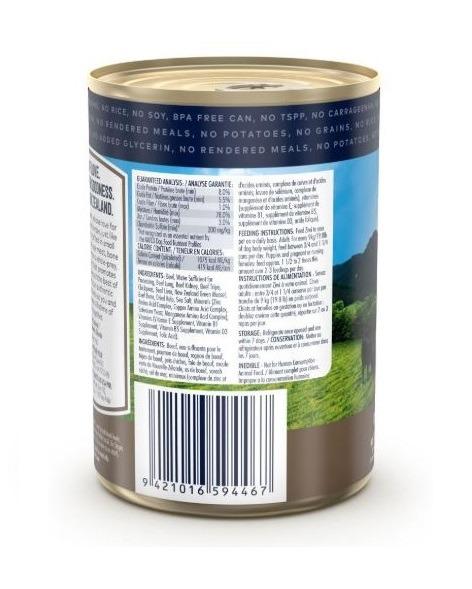 ZiwiPeak Beef Recipe Canned Dog Food 390 g back - ZiwiPeak - Beef Recipe Canned Dog Food (390G)