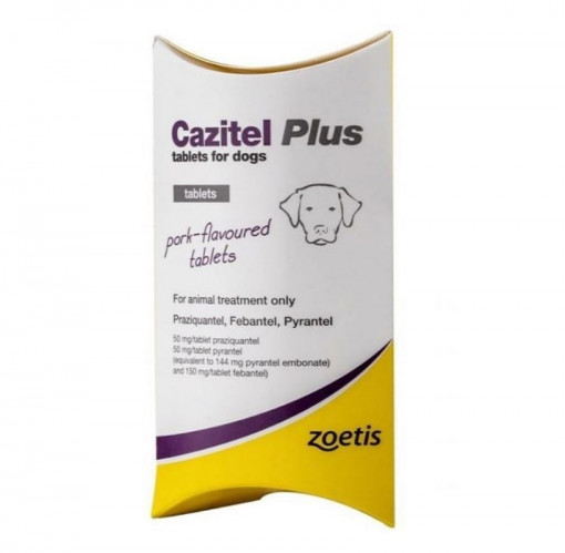 Zoetis Cazitel Plus Tablets for Dogs 1tab - Zoetis - Cazitel Plus Tablets for Dogs