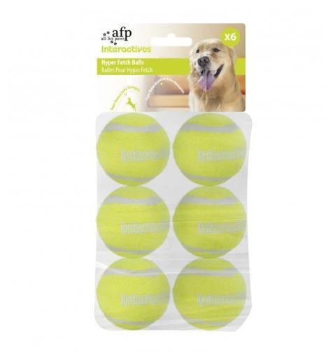 afp hyper fetch interactive - AFP Maxi Fetch Super Bounce Tennis Balls 6pcs