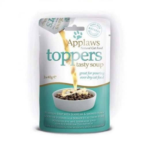 applaws toppers soup tuna - Applaws Cat Toppers Pumpkin Soup with Tuna 40g