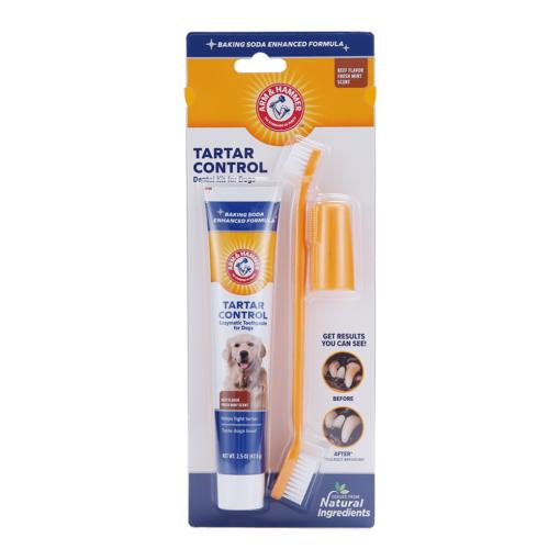 arm hammer tartar control dental kit for dogs beef flavor - Arm & Hammer Tartar Control Dental Kit For Dogs Beef Flavor