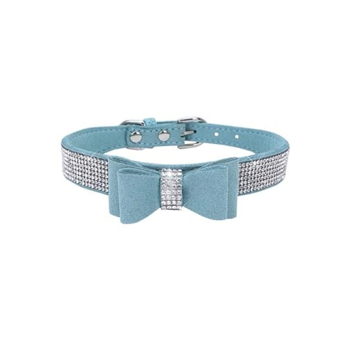 Milki Royal Bling Collars With Bow -SKY BLUE