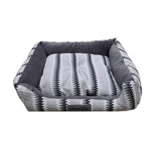 Catry Pet Cushion - Gray - Yellow